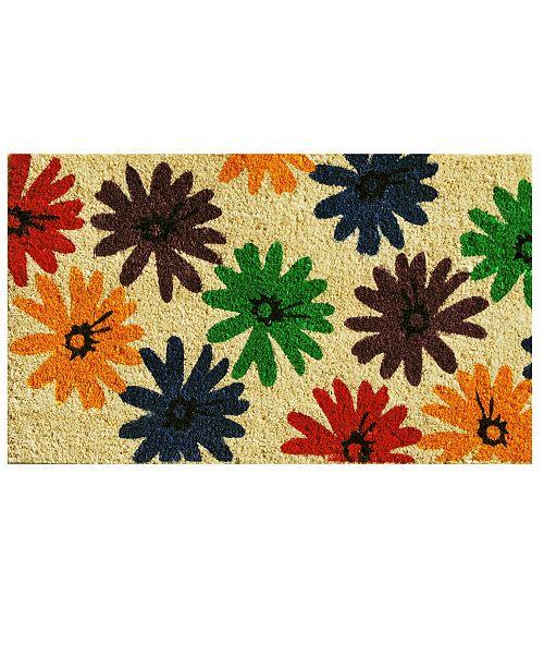 "Home & More Colorful Daisies 17"" x 29"" Coir/Vinyl Doormat"