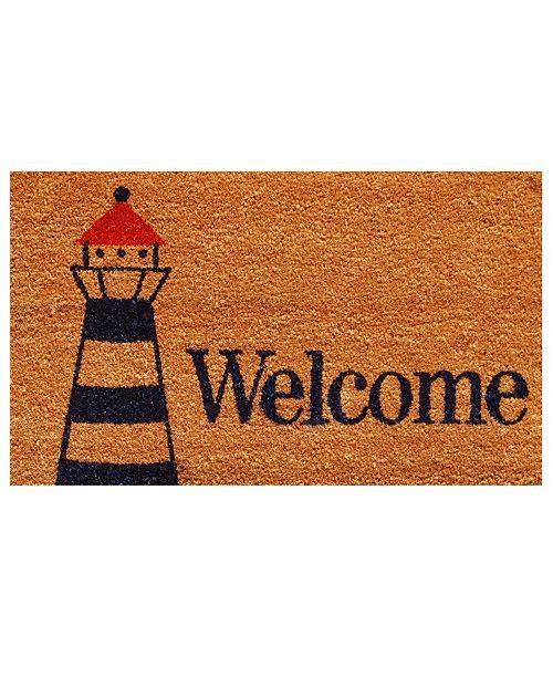 "Home & More Lighthouse Welcome 17"" x 29"" Coir/Vinyl Doormat"