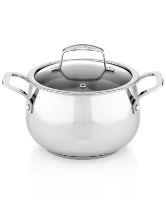 Image of Belgique Stainless Steel 3-Qt. Soup Pot with Lid, Only at Macy's