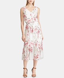 American Living Floral Georgette Dress