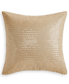 """Hotel Collection Metallic Stone 18"""" x 18"""" Decorative Pillow, Created for Macy's"""