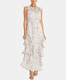 Amelie Floral-Print Ruffled Maxi Dress