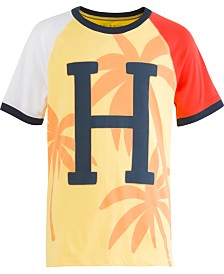 Tommy Hilfiger Little Boys Ringer Aspen Gold Logo T-Shirt
