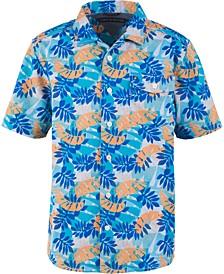 Little Boys Kyle Tropical-Print Camp Shirt
