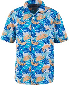 Tommy Hilfiger Big Boys Kyle Tropical-Print Camp Shirt