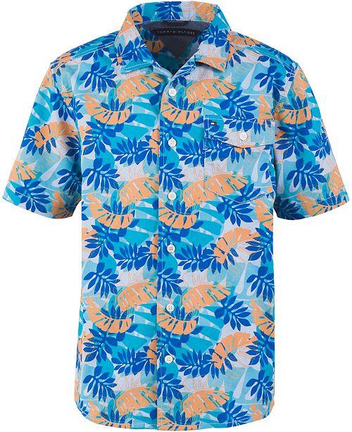 Tommy Hilfiger Toddler Boys Kyle Tropical-Print Camp Shirt