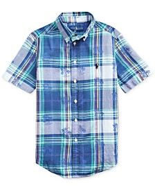 Polo Ralph Lauren Big Boys Palm Tree Cotton Madras Shirt