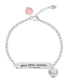 Beatrix Potter Children's Peter Rabbit ID and Heart Charm Bracelet