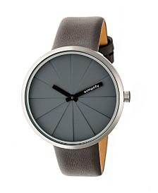 Simplify Quartz The 4000 Genuine Grey Leather Watch 43mm