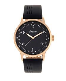 Simplify Quartz The 5700 Genuine Navy Leather Watch 44mm