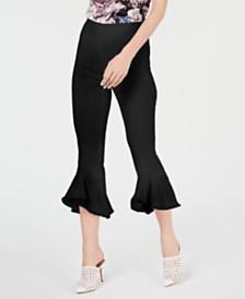 I.N.C. Petite Cropped Ruffle-Hem Pants, Created for Macy's