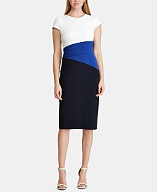 Lauren Ralph Lauren Petite Colorblocked T-Shirt Dress