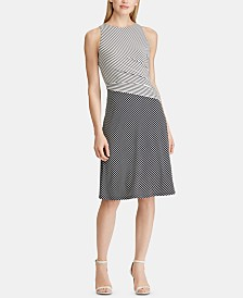 Lauren Ralph Lauren Petite Striped Jersey Dress