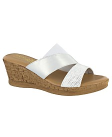 Tuscany by Easy Street Camari Wedge Sandals