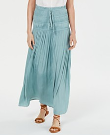 Current Air Ruched Maxi Skirt