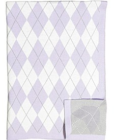 3 Stories Trading Argyle Knit Baby Blanket