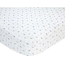 100% Cotton Sateen Fitted Crib Sheet - Taupe Safari