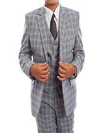 Windowpane Classic Fit 2 Button Suits for Boys