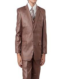 2 Button Vested Boys Suit, 5 Pc