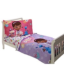 Doc Mcstuffin the Doc is in 4 Piece Toddler Bed Set