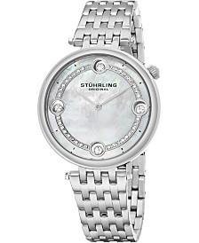 Stuhrling Women's Quartz Watch, Silver Case, MOP Dial, Silver Bracelet