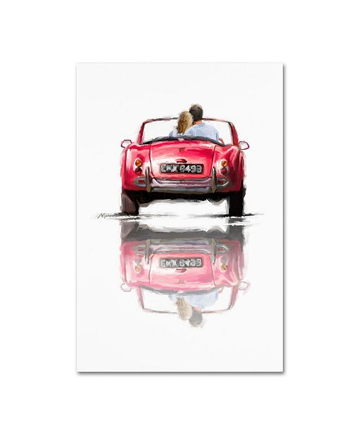 "Trademark Global The Macneil Studio 'Couple In Car' Canvas Art - 32"" x 22"" x 2"""