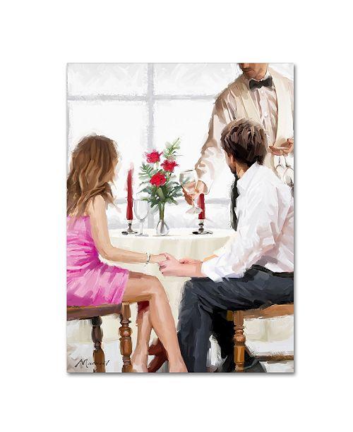 "Trademark Global The Macneil Studio 'Couple and Waiter' Canvas Art - 32"" x 24"" x 2"""