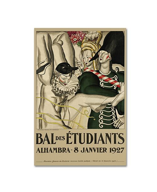 "Trademark Global Vintage Apple Collection 'Bal Etudiants' Canvas Art - 24"" x 16"" x 2"""