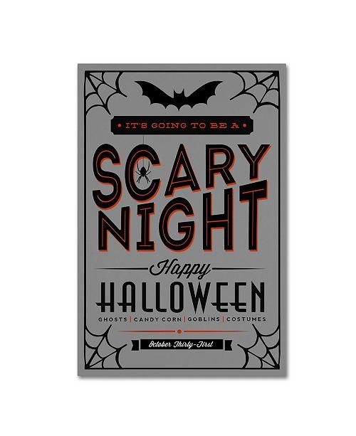 "Trademark Global Lantern Press 'Halloween 3' Canvas Art - 24"" x 16"" x 2"""