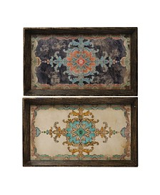 """25"""" x 15"""" Brown Trays, Set of 2"""