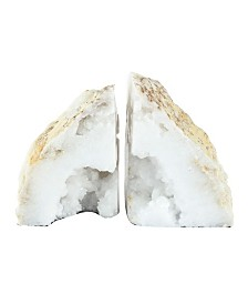 Natural Geode Bookends, Set of 2