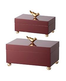 Wren Wooden Boxes, Set of 2
