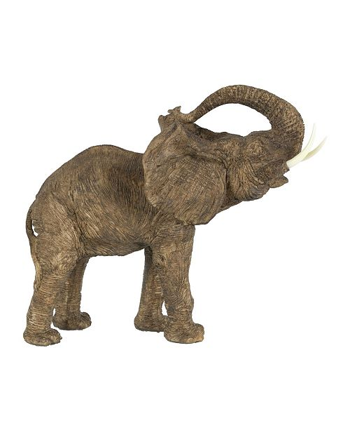 AB Home Tai Polyresin Elephant Accent, Trumpeting