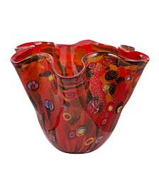 Svirla Blown Glass Ripple Vase
