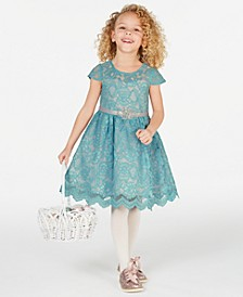 Little Girls Embellished Lace Dress