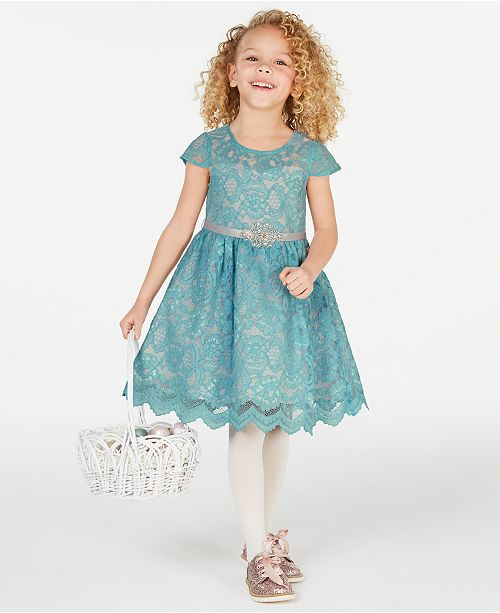 Rare Editions Little Girls Lace Fit & Flare Dress