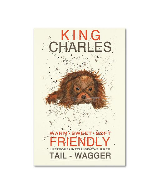 """Trademark Global Michelle Campbell 'King Charles' Canvas Art - 19"""" x 12"""" x 2"""""""