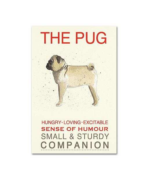 "Trademark Global Michelle Campbell 'Pug Print' Canvas Art - 24"" x 16"" x 2"""