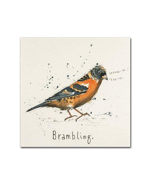 "Trademark Global Michelle Campbell 'Brambling' Canvas Art - 14"" x 14"" x 2"""