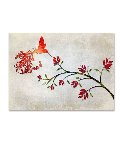 "Trademark Global Tina Lavoie 'Hummingbird of Paradise Sunset' Canvas Art - 47"" x 35"" x 2"""