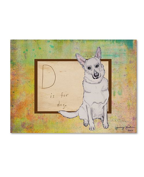 "Trademark Global Tammy Kushnir 'D is For Dog' Canvas Art - 47"" x 35"" x 2"""