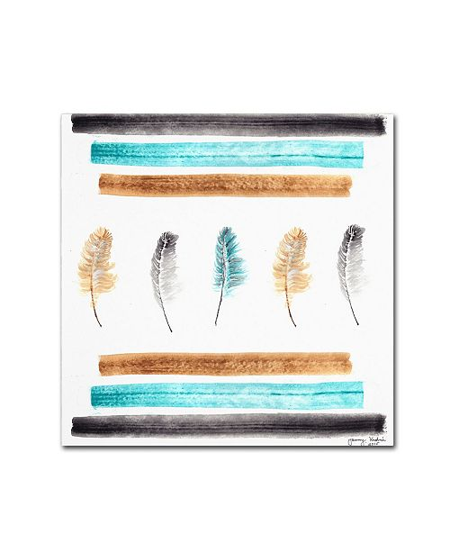 "Trademark Global Tammy Kushnir 'Feathers Aligned' Canvas Art - 24"" x 24"" x 2"""