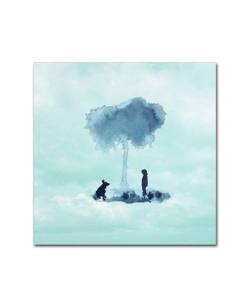 "Trademark Global Tammy Kushnir 'A Boy And His Dog' Canvas Art - 35"" x 35"" x 2"""