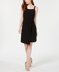 Petite Asymmetrical Wrap Dress