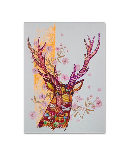 "Trademark Global Oxana Ziaka 'Candy Deer' Canvas Art - 19"" x 14"" x 2"""