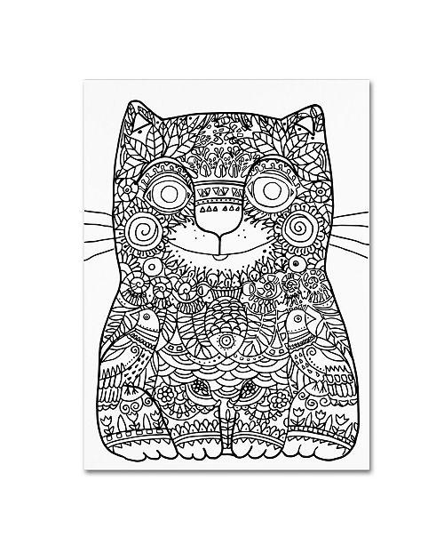 "Trademark Global Oxana Ziaka 'Happy Cat 2' Canvas Art - 47"" x 35"" x 2"""
