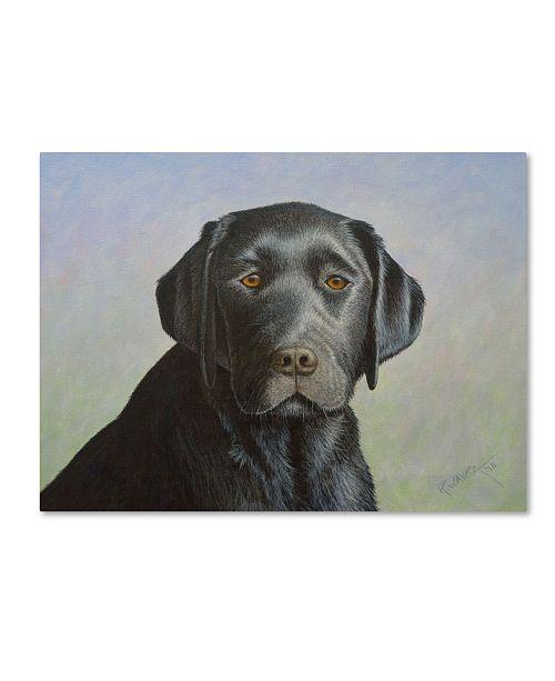 "Trademark Global Robert Wavra 'Black Labrador Retriever' Canvas Art - 32"" x 24"" x 2"""
