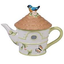 Spring Meadows 3-D Bird House Teapot