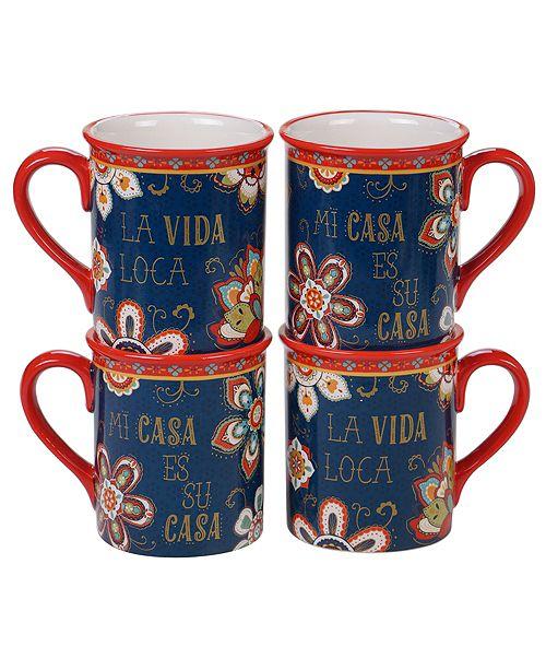 Certified International La Vida 4-Pc. Mug, 16oz