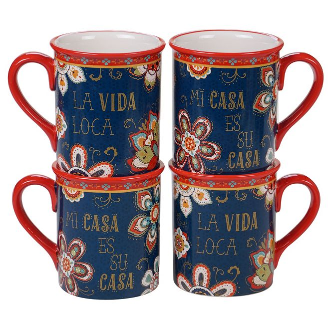 Certified International La Vida 4-Pc. Mug, 16oz